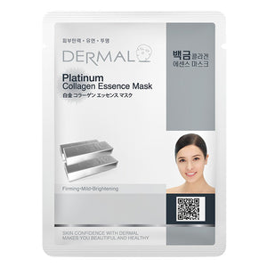 DERMAL Platinum Collagen Essence Mask 10 Pieces