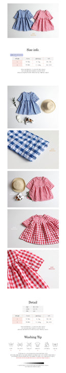 Children's Check One Piece Dress - 2 Colors - Dotrade Express. Trusted Korea Manufacturers. Find the best Korean Brands