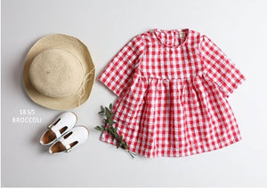 Children's Check One Piece Dress - 2 Colors