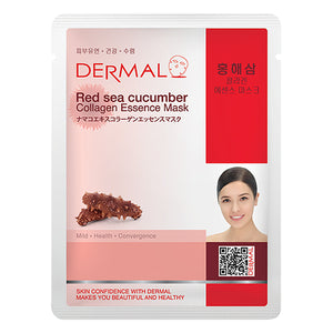 DERMAL Red Sea Cucumber Collagen Essence Mask 10 Pieces