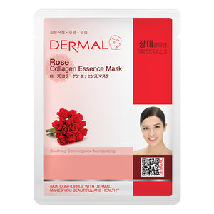 DERMAL Rose Collagen Essence Mask 10 Pieces