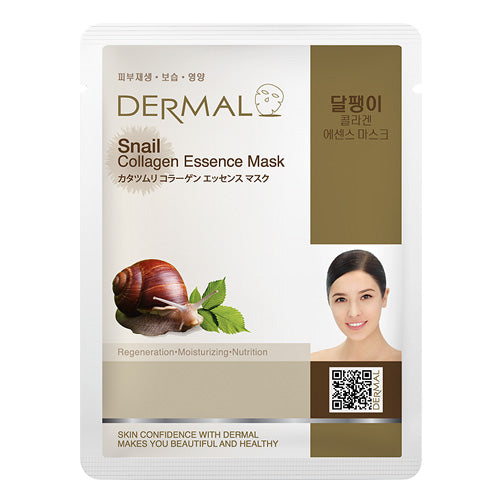 DERMAL Snail Collagen Essence Mask 10 Pieces