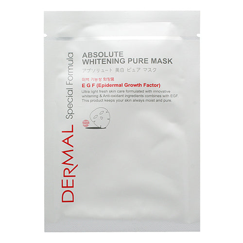 DERMAL Special Formula Absolute Whitening Pure Mask 10 Pieces