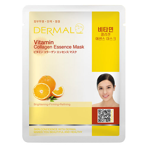DERMAL Vitamin Collagen Essence Mask 10 Pieces