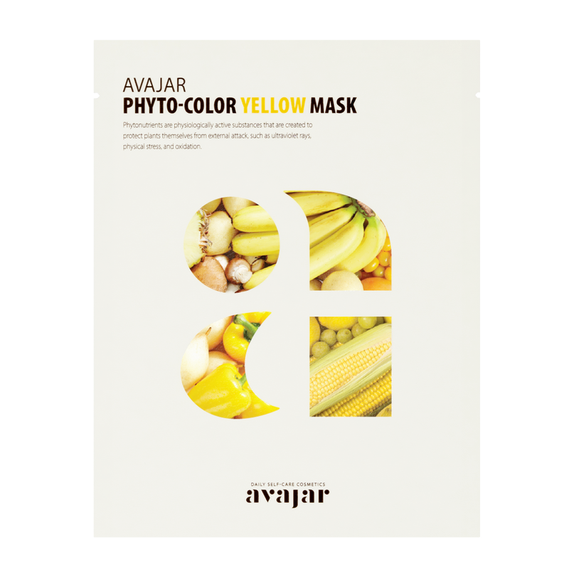 AVAJAR PHYTO-COLOR YELLOW MASK (10EA) - Dotrade Express. Trusted Korea Manufacturers. Find the best Korean Brands