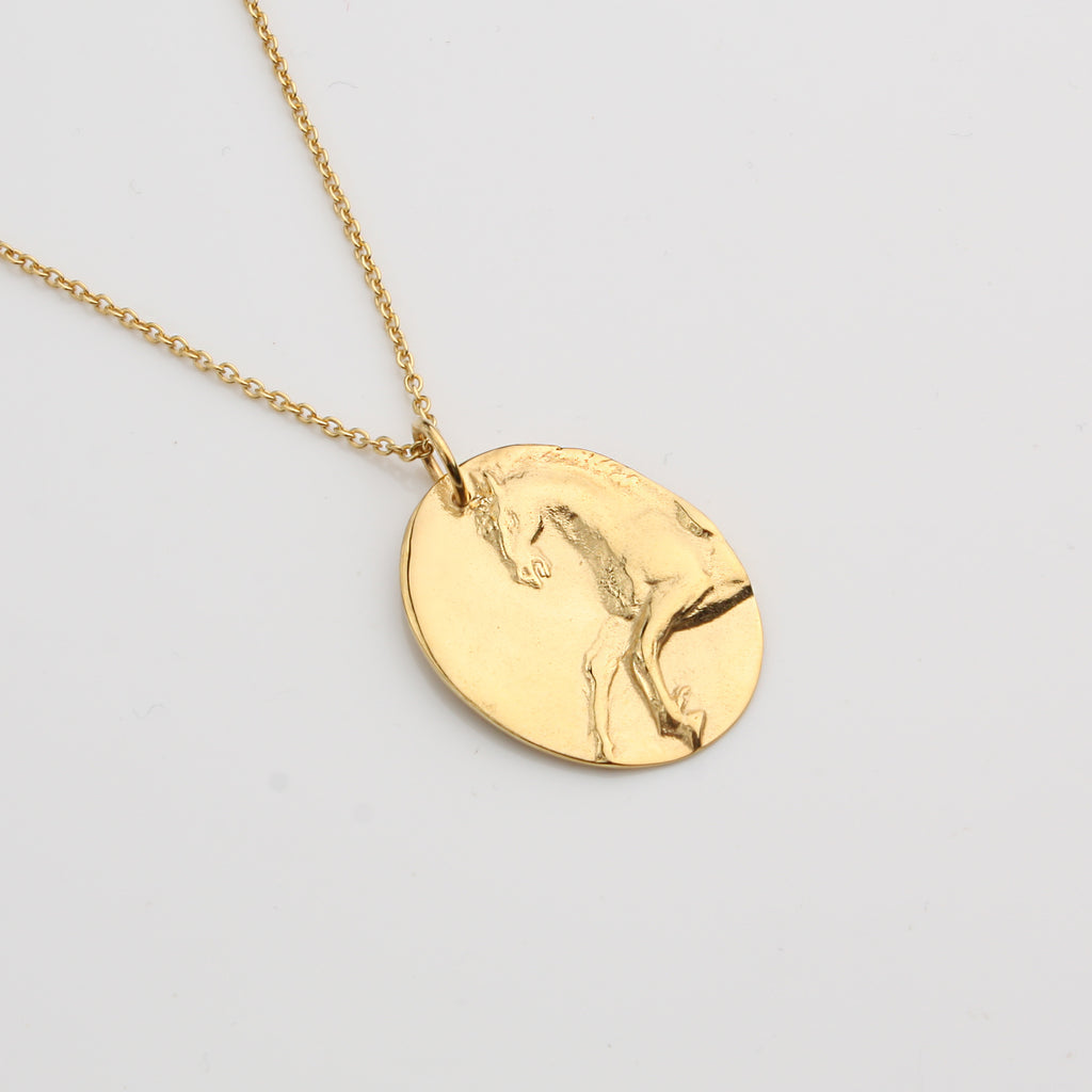 Equestrian Necklace - Gold Vermeil