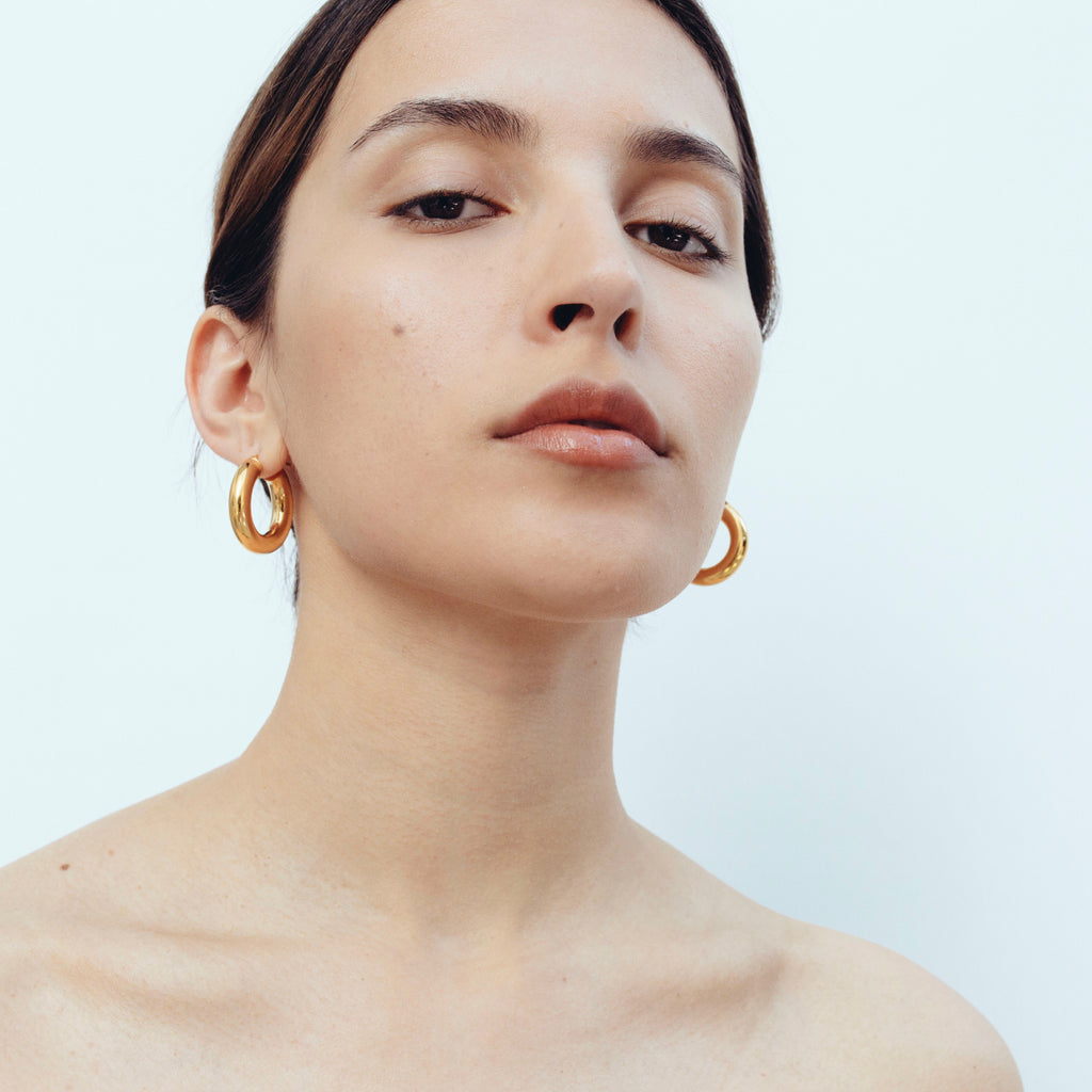2.8 Thick Hoops - Gold Vermeil