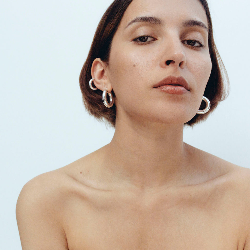 2.8 Thick Hoops - Silver