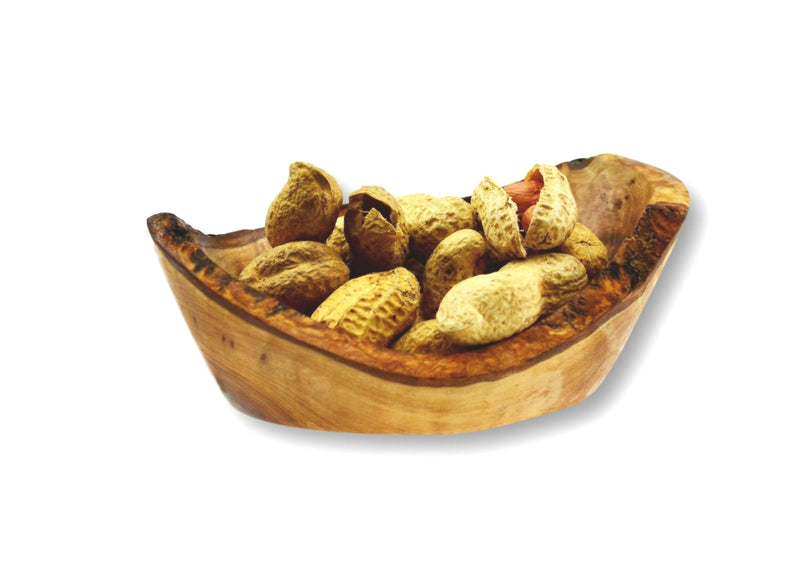Olive Wood wooden small rustic appetizer serving dish with peanuts By MR OLIVEWOOD® Wholesale Manufacturer Supplier USA canada