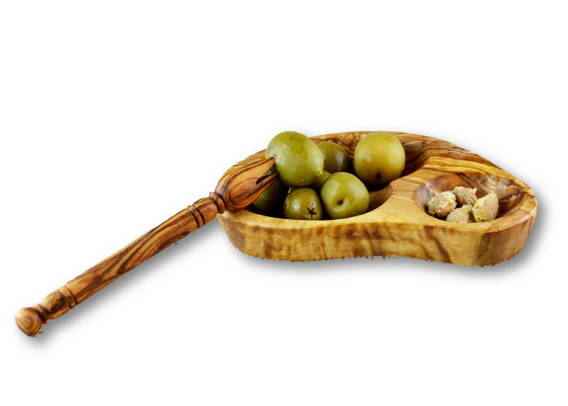 Olive Wood wooden serving olives shell appetizer dishes stackable set of 3 By MR OLIVEWOOD® Wholesale Manufacturer Supplier USA canada