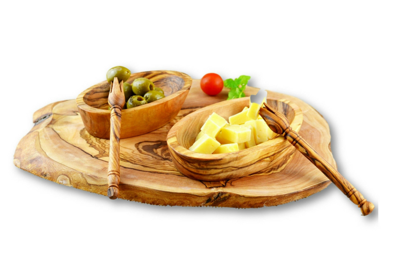 Olive Wood wooden serving appetizer dishes By MR OLIVEWOOD® Wholesale Manufacturer Supplier USA canada