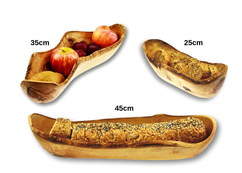 Olive Wood wooden fruit bread rustic dish 3 sizes By MR OLIVEWOOD® Wholesale Manufacturer Supplier USA canada
