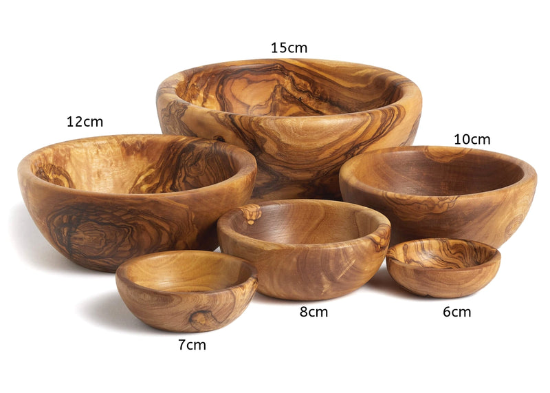 Olive Wood wooden nesting bowls set of 6 different sizes By MR OLIVEWOOD® Wholesale Manufacturer Supplier USA Canada