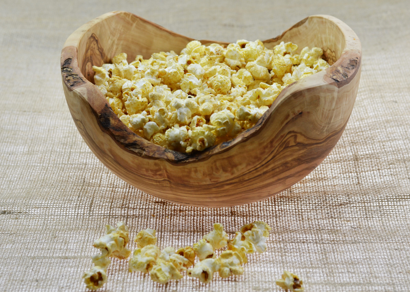 Olive Wood wooden Salad Bowl Rustic with popcorn By MR OLIVEWOOD® Wholesale Manufacturer Supplier USA canada