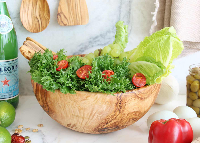 Olive Wood wooden salad bowl serving salad By MR OLIVEWOOD® Wholesale Manufacturer Supplier USA Canada