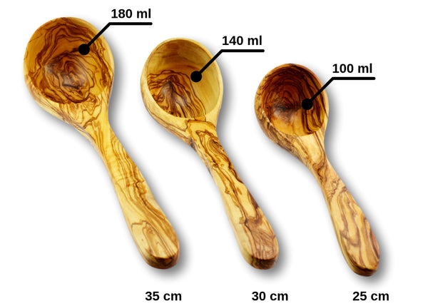 olive wood ladle wooden ladle by MR OLIVEWOOD® wholesale USA & Canada