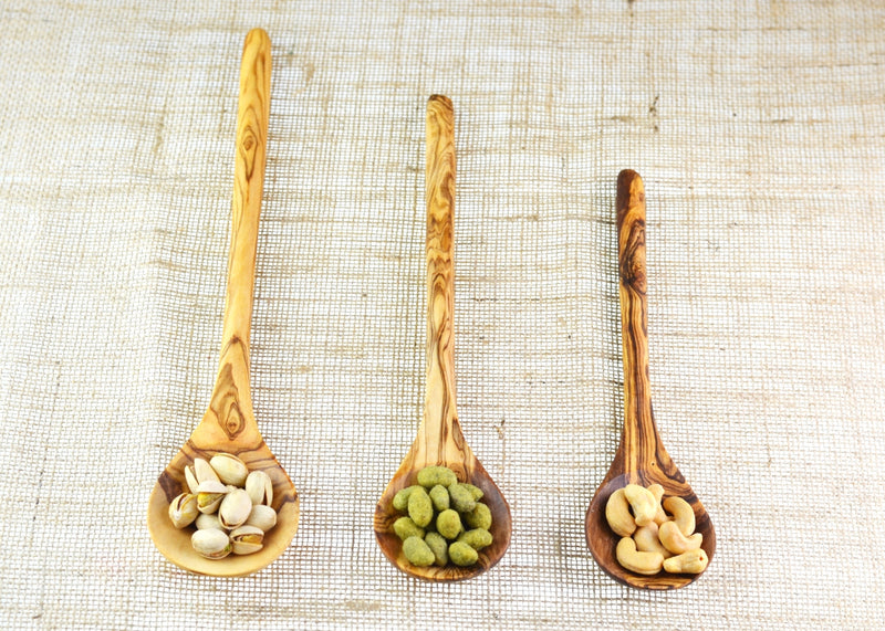 olive wood round spoon beautiful wooden spoon by MR OLIVEWOOD® wholesale USA & Canada