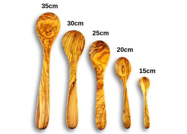 olive wood spoon 5 wooden spoons by MR OLIVEWOOD® wholesale USA & Canada