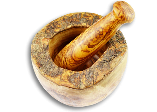 Olive Wood kitchen utensils mortar and pestle olive wood gift by MR OLIVEWOOD®