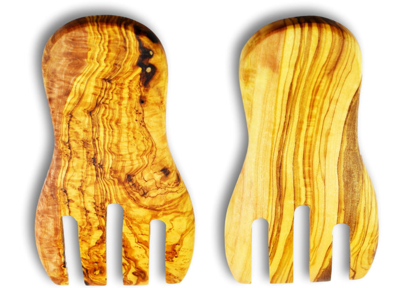 Olive Wood kitchen utensils salad serving mixing hands personalised olive wood gift present by MR OLIVEWOOD®