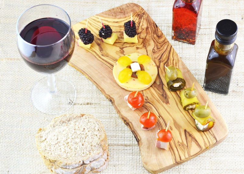 wooden olive wood rustic serving board planche en bois d'olivier by MR OLIVEWOOD® Wholesale USA Canada