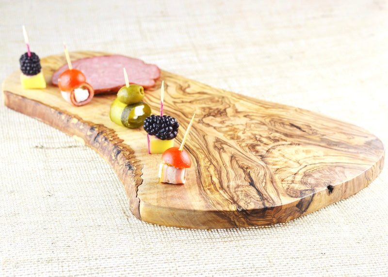 wooden olive wood rustic cheese serving board planche en bois d'olivier by MR OLIVEWOOD® Wholesale USA Canada