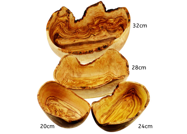 Olive Wood wooden oval rustic Salad Bowl 4 sizes By MR OLIVEWOOD® Wholesale Manufacturer Supplier USA canada