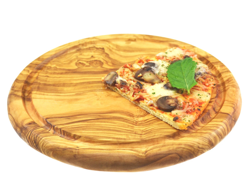 wooden olive wood chopping cutting carving cheese steak serving pizza round board planche en bois d'olivier by MR OLIVEWOOD® Wholesale USA Canada
