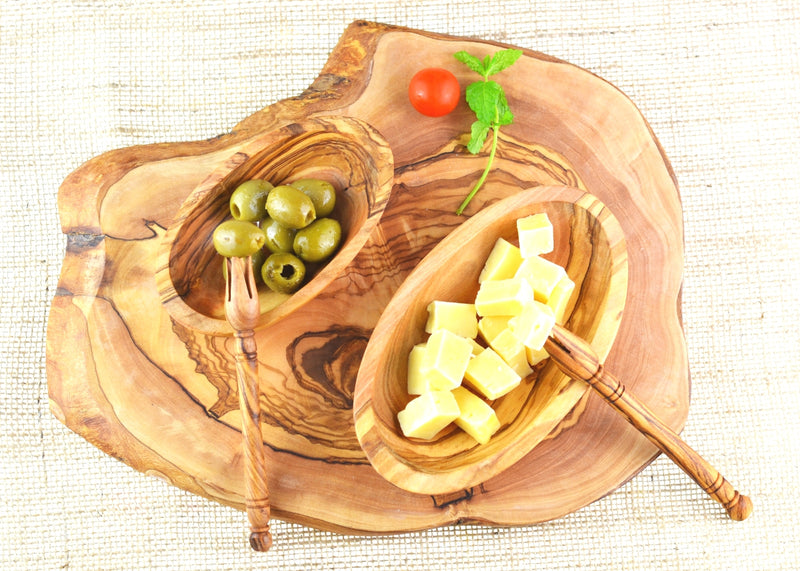 wooden olive wood chopping cutting carving cheese steak serving rustic round board serving cheese and olives planche en bois d'olivier by MR OLIVEWOOD® Wholesale USA Canada