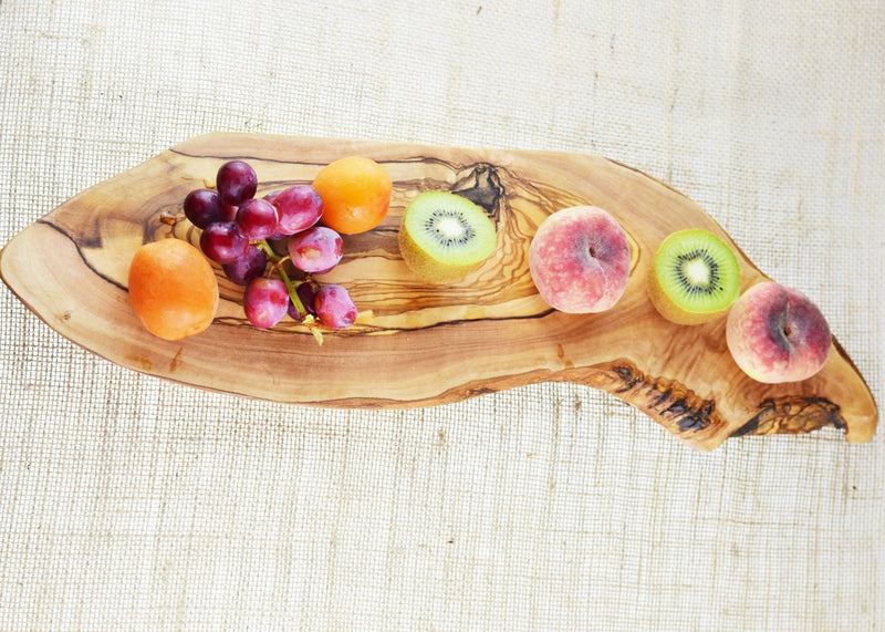 wooden olive wood oval rustic serving board planche en bois d'olivier by MR OLIVEWOOD® Wholesale USA Canada