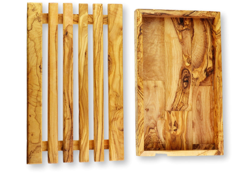 wooden olive wood bread board 2 parts planche a pain en bois d'olivier by MR OLIVEWOOD® Wholesale Supplier Manufacturer USA Canada
