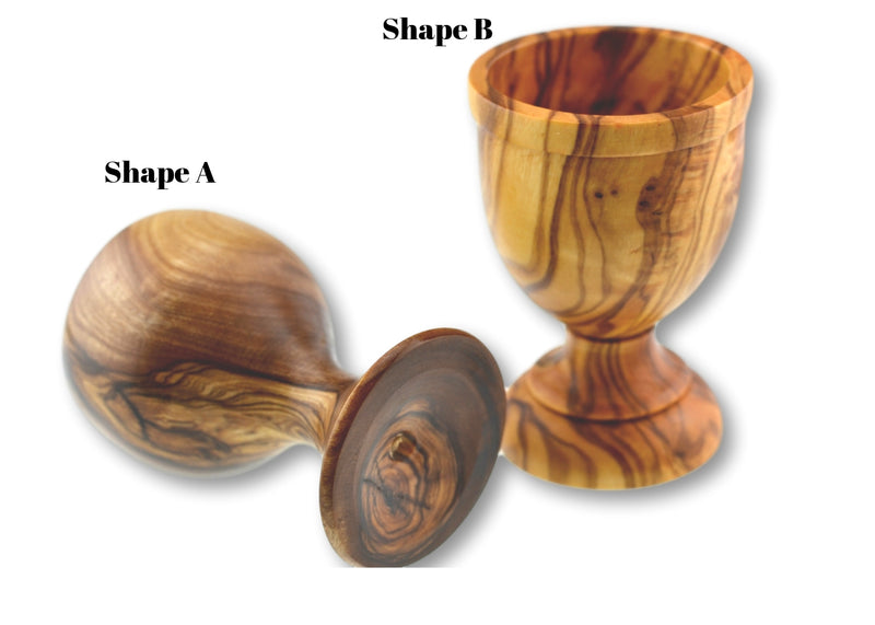 wooden olive wood egg cup shape A and B coquetier en bois d'olivier by MR OLIVEWOOD® wholesale manufacturer US based supplier USA Canada