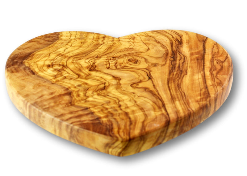 wooden olive wood cutting carving cheese steak serving heart board planche en bois d'olivier by MR OLIVEWOOD® Wholesale USA Canada