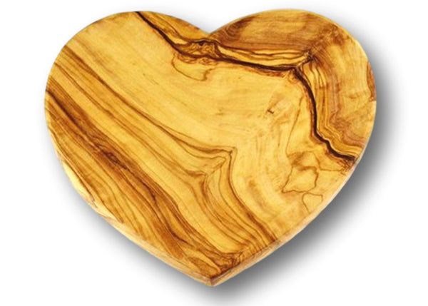 wooden olive wood chopping cutting carving cheese steak serving heart board planche en bois d'olivier by MR OLIVEWOOD® Wholesale USA Canada