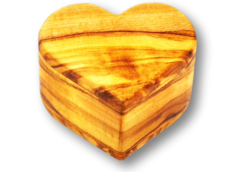 wooden olive wood Heart Shaped Ring Jewellery Box boîte Coffret bague bijoux en bois d'olivier by MR OLIVEWOOD® wholesale manufacturer US based supplier USA Canada