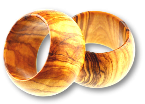 wooden olive wood napkin rings ronds de serviette en bois d'olivier by MR OLIVEWOOD® wholesale manufacturer US based supplier USA Canada
