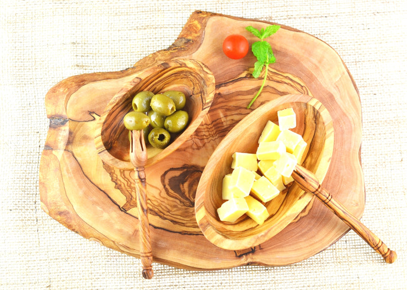 wooden olive wood Olive Pick Bites Stabber with cheese board olives and cheese Pince fourchette pour olives fromage en bois d'olivier by MR OLIVEWOOD® wholesale manufacturer US based supplier USA Canada