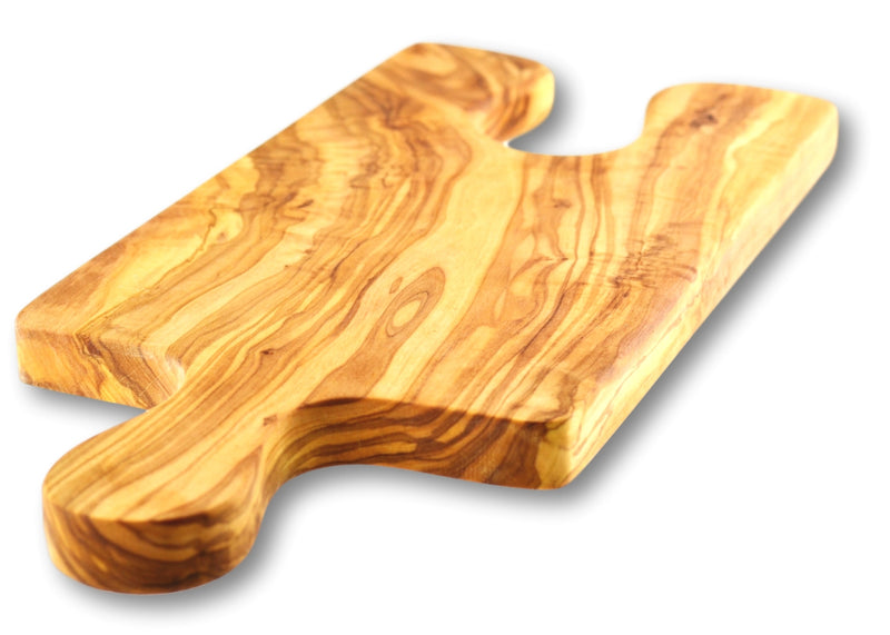 wooden olive wood chopping carving cheese steak serving puzzle board with paddle glass holder planche en bois d'olivier by MR OLIVEWOOD® Wholesale USA Canada