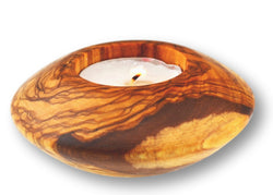 wooden olive wood round candle holder porte-bougie en bois d'olivier by MR OLIVEWOOD® wholesale manufacturer US based supplier USA Canada