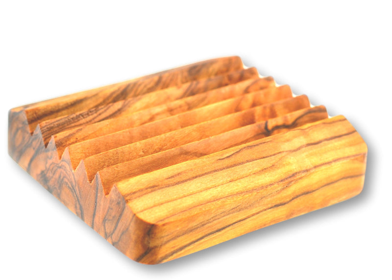 wooden olive wood soap dish beautiful wooden porte savon  en bois d'olivier by MR OLIVEWOOD® wholesale manufacturer US based supplier USA Canada