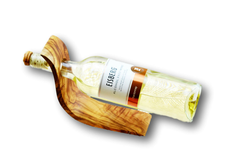 wooden olive wood Bottle Stand / Holder with bottle porte-bouteilles en bois d'olivier by MR OLIVEWOOD® wholesale manufacturer US based supplier USA Canada