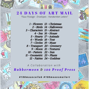100 Proof Press and RubberMoon Art Mail Challenge