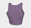 Your Vibe Attracts Your Tribe' Grape Yoga Crop Top