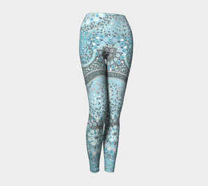Ocean Blue Spirit Yoga Pants - Aloki Athletica