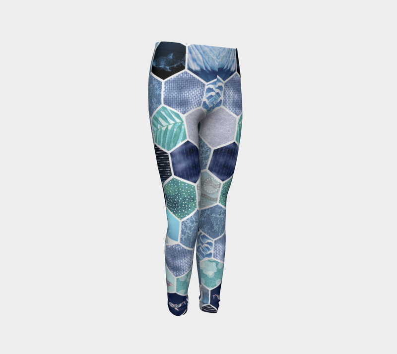 Kaleidoscope Ocean Kids Leggings