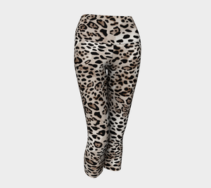 Jungle Leopard Print Yoga Capri