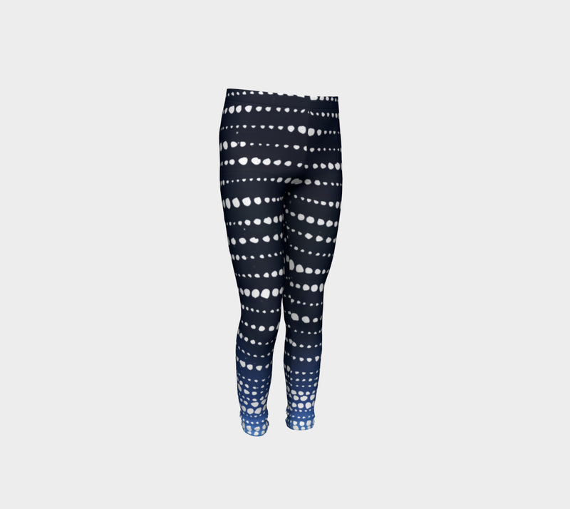 Deep Blue Whale Shark Kids Leggings