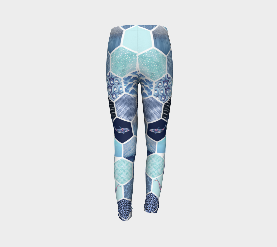Kaleidoscope Ocean Kids Leggings - Aloki Athletica