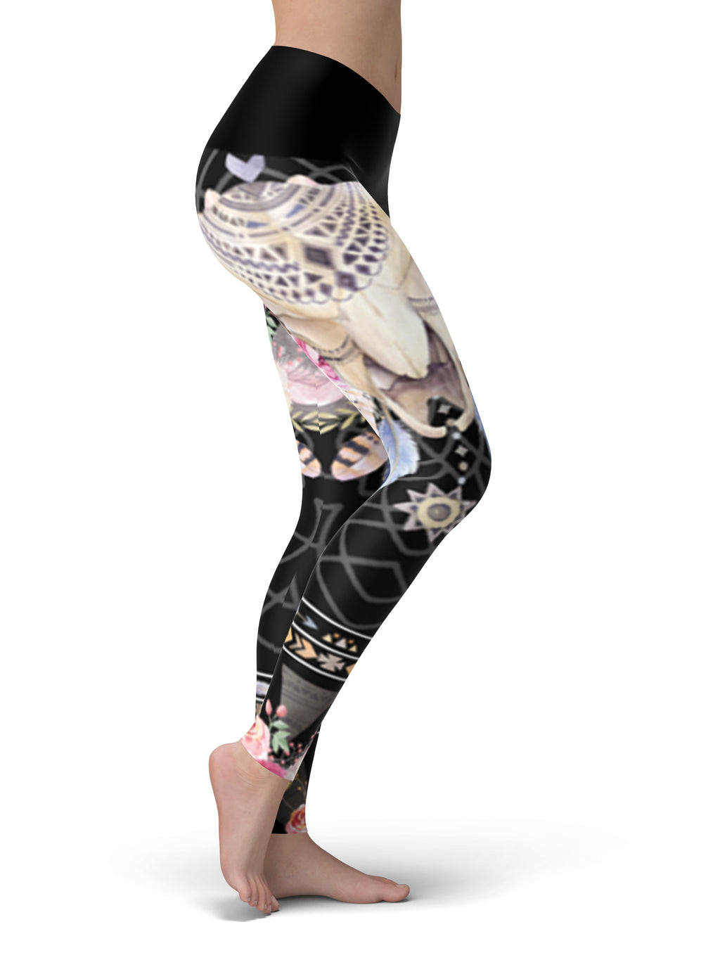 Bohemian Black Yoga Pants