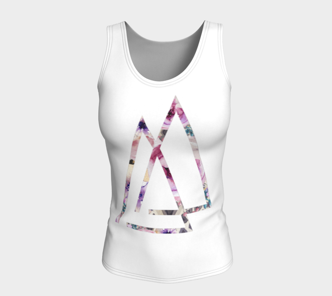 Your Vibe Attracts Your Tribe Floral Yoga Top - Aloki Athletica